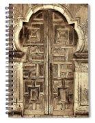 Mission Espada Door - 4 Spiral Notebook