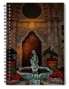 Mission Inn Chapel Fountain Spiral Notebook