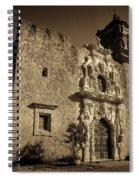 Mission San Jose - Sepia Spiral Notebook