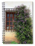 Mission Window With Purple Flowers Spiral Notebook
