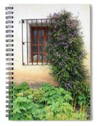 Mission Window With Purple Flowers Vertical Spiral Notebook