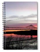 Mississippi River At Savanna Spiral Notebook