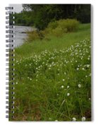 Mississippi River Bank Flowers Spiral Notebook