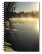 Mississippi River Bank Sunrise Spiral Notebook