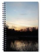 Mississippi River Colorful Dawn Clouds Spiral Notebook