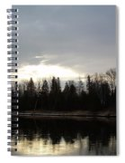 Mississippi River Dawn Clouds Spiral Notebook