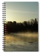 Mississippi River Dawn Light Rays Spiral Notebook