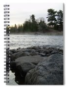 Mississippi River Dawn Over The Rocks Spiral Notebook