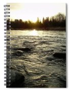Mississippi River Dawn Reflection Spiral Notebook