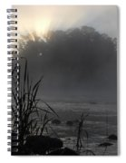 Mississippi River Dawn Sun Rays Spiral Notebook
