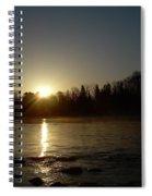 Mississippi River Golden Sunrise Spiral Notebook