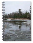 Mississippi River Ice Flow Spiral Notebook
