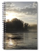 Mississippi River June Sunrise Reflection Spiral Notebook