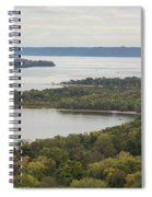 Mississippi River Lake Pepin 7 Spiral Notebook