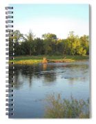 Mississippi River Lovely Dawn Light Spiral Notebook