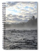 Mississippi River Mist Over Rushing Water Spiral Notebook