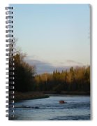 Mississippi River Moon At Dawn Spiral Notebook