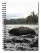 Mississippi River Rocks At Dawn Spiral Notebook