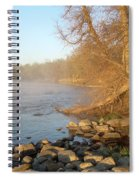 Mississippi River Shades Of Fog Spiral Notebook