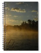 Mississippi River Sunrise Fog Spiral Notebook
