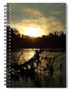 Mississippi River Sunrise Tree Roots Spiral Notebook