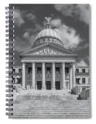 Mississippi State Capitol Bw Spiral Notebook