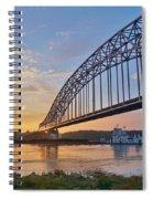 Mississippi Sunrise Crossing Spiral Notebook