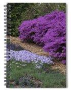 Missouri Botanical Garden Purple Azaleas Dsc01692 Spiral Notebook