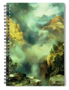 Mist In The Canyon Spiral Notebook