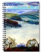 Mist In The Exe Valley In Exeter Devon Spiral Notebook