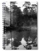 Mist On The Pond Spiral Notebook