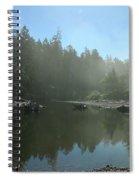 Mist Over Ruby Beach Spiral Notebook