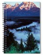 Mist Over Snake River, Sunrise Light Spiral Notebook