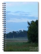 Mist Rolls In And Blue Sky At Sunset Spiral Notebook