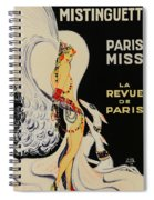 Mistanguette At The Casino De Paris Spiral Notebook