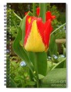 Mister Tulip Waving Salute Spiral Notebook