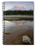 Misty Alpenglow Spiral Notebook