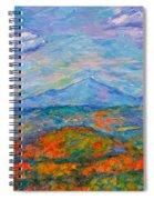 Misty Blue Ridge Autumn Spiral Notebook