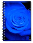 Misty Blue Rose Spiral Notebook