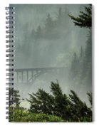 Misty Bridge At Heceta Head Spiral Notebook