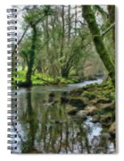 Misty Day On River Teign - P4a16017 Spiral Notebook