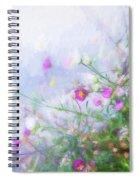 Misty Floral Spray Spiral Notebook