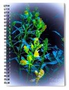 Misty Look Wild Flowers Spiral Notebook