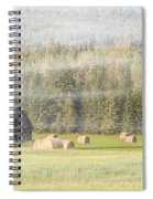 Misty Morning Haybales Spiral Notebook
