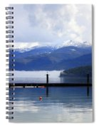 Misty Morning On Priest Lake Spiral Notebook