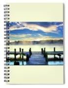 Misty Morning On Rock Creek Spiral Notebook