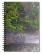 Misty Morning On The Buffalo Spiral Notebook