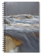Misty Morning On The River Spiral Notebook
