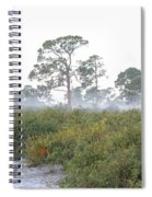 Misty Morning On The Trail Spiral Notebook