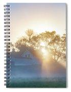 Misty Morning Sunrise - Valley Forge Spiral Notebook